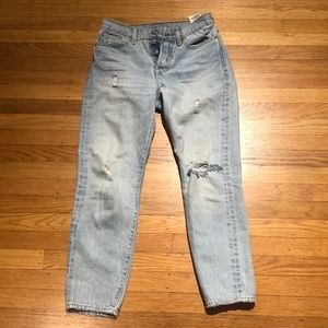 Levi's selfridge wedgie jeans light wash